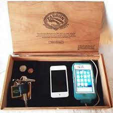 mens valet tray built to hold a cell phone ipad kindle glasses
