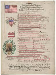 George Washington A 19th Century Genealogists False Chart Of His