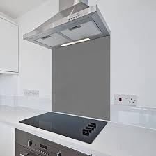 dunkelgrauer küchen glas spritzschutz colour2glass 6 mm dicker hitzebeständiger spritzschutz aus gehärtetem glas grau 600 x 700mm