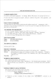 HR Fresher Resume Example | Templates At ...