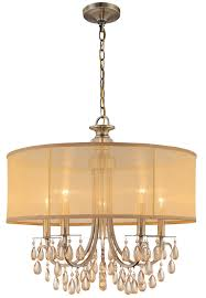 Gold Drum Shade Chandelier For Dining Room Design And Home Lighting Ideas Iron Chain