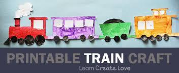 Printable Train Craft