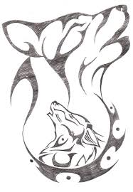 Wolf Howling Drawings In Pencil