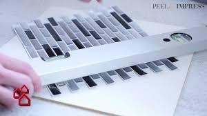 selbstklebende vinyl mosaikmatte peel impress für küchen bauhaus
