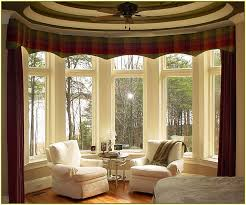 Living Room Curtain Ideas For Bay Windows by Curtains For A Bay Window Home Design Ideas