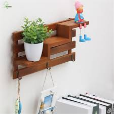 Online Shop YIHONG Retro Wooden Organizers Wall Storage Rack