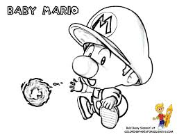 Baby Mario Coloring At YesColoring Pages