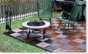 modern concept diy outdoor flooring with wooden patio deck tiles