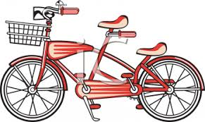 Vintage Bicycle Built For Two Clip Art