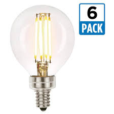 westinghouse 40w equivalent soft white g16 1 2 dimmable filament