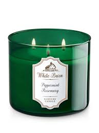 Peppermint & Rosemary 3-Wick Candle - White Barn | Bath & Body Works Basil Sage Mint The Candle Barn Company Bath Body Works White Co Miami Grand Opening Perth Western Australia Facebook And Old Piece Of Beaten Barn Board Some Rusty Wire And An Primitive Antique Style Handmade Wood Lantern W Amazoncom Milkhouse Creamery Butter Jar Candice Holder Vase Phantastic Phinds Coconut Snowflake 3wick Pottery Homescent Redesign Packaging