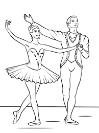 Click To See Printable Version Of Sleeping Beauty Ballet Coloring Page