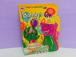 Barney Coloring Book Barneys Birthday Surprise