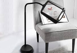 Lighted Full Page Magnifier Lamp by Full Page Floor Magnifying Lamp Sharper Image