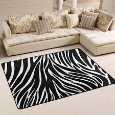 Amazoncom LORVIES Zebra Textures Area Rug Carpet NonSlip Floor