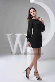 short black chiffon long sleeve party homecoming dresses