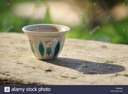 A Traditional Lebanese Coffee Cup On Wooden Table