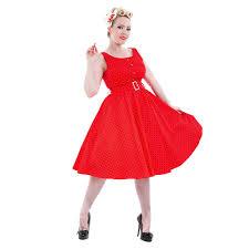 h u0026r black and red polka dot dress vintage style clothing uk
