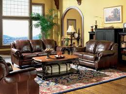 Brown Leather Sofa Living Room Ideas by Living Room Decorating Ideas Leather Sofa Centerfieldbar Com