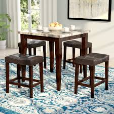 Andover Mills Aldama 5 Piece Pub Table Set & Reviews | Wayfair Jofran Marin County Merlot 5piece Counter Height Table Mercury Row Mcgonigal 5 Piece Pub Set Reviews Wayfair Crown Mark Camelia Espresso And Stool Red Barrel Studio Jinie Amazoncom Luckyermore Ding Kitchen Giantex Pieces Wood 4 Stools Modern Inspiring And Chairs Target Tables For Dimeions Style Sets Design With Round Wooden Bar Best Choice Products W Glass Dinette Frasesdenquistacom Hartwell Peterborough Surplus Fniture No Clutter For The