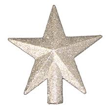 Amazon 4 Petite Treasures Silver Glittered Mini Star Christmas Tree Topper