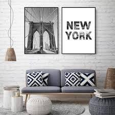 juabc new york city wandkunst bild bridge