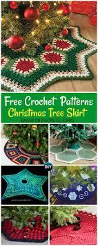 Crochet Christmas Tree Skirt Free Patterns Design Snowflake Granny Square Ripple