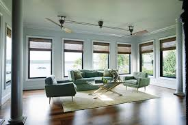 ceiling fans with lights bedroom contemporary with alcove