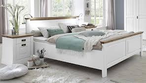 bett 140x200kiefer massiv weiss lackiert wildeiche geölt komforthöhe 42 cm nordic dreams casade mobila
