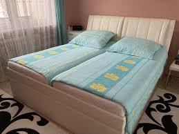 bett mit bettkasten und verstellbaren kopfbereich ohne matratze