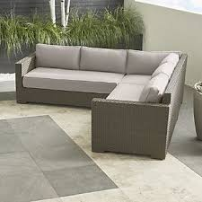 Ventura Umber 3 Piece Loveseat Sectional with Sunbrella  Cushions