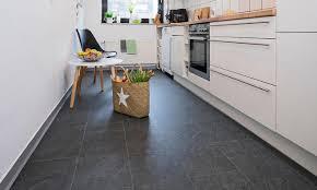Küche Boden Verlegen Vinylboden Fliesenoptik Selbst De