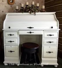 Winners Only Roll Top Desk Value by The Olde Farmhouse On Windmill Hill Desk Makeover How To Update