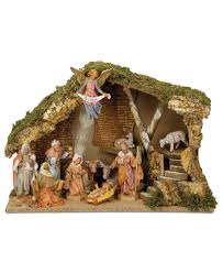 Roman Fontanini Italian Stable 11 Piece Set Nativity Scene We Have ... Was Jesus Really Born In A Stable Nativity Scene Pictures Hut With Ladder And Barn Online Sales On Holyartcom Scenes Nativity Sets Manger Display Yonderstar Handmade Wooden Opas Scene Christmas Set Outdoor Manger Family Wooden Setting House Red Roof Trough 2235x18 Cm For Vintage Wood Creche Religious Amazoncom Fontani 5 54628 Stable Fountain 28x42x18cm Fireplace 350x24 Bungalow Like Neapolitan 237x29cm