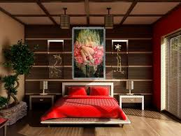 Bedroom Japanese Inspired Striking Photos Concept Living