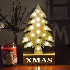Image Is Loading 18 LED Warm White Light Wooden Christmas Tree
