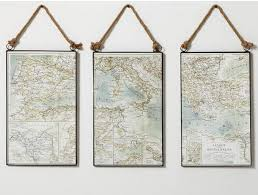Pottery Barn Wall Decor by Diy Map Triptych Diy Show Off Diy Decorating And Home