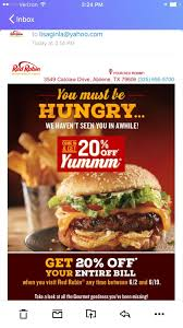 Red Robin Coupon Code Celebrate Sandwich Month With A 5 Crispy Chicken Meal 20 Off Robin Hood Beard Company Coupons Promo Discount Red Robin Anchorage Hours Fiber One Sale Coupon Code 2019 Zr1 Corvette For 10 Off 50 Egift Online Only 40 Slickdealsnet National Cheeseburger Day Get Free Burgers And Deals Sept 18 Sample Programs Fdango Rewards Come Browse The Best Gulf Shores Vacation Deals Harris Pizza Hut Coupon Brand Discount Mytaxi Promo Code Happy Birthday Free Treats On Your Special