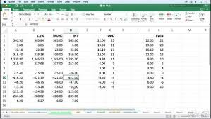 Excel Ceiling Function In Java by Use The Int And Trunc Functions To Extract Integer Data