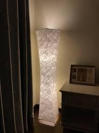 Mainstays Floor Lamp With Reading Light Brown by Floor Lamp Bi Light Modern Twisted Design Fabric Soft Lighting