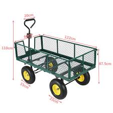 Extra Large Metal Garden Cart Truck Hand Trolley 4 Wheel Wheelbarrow ... Wesco 4 Wheel Hand Truck Ebay Airgas Hrp32t56 Harper Series 32t 900 Lb Industrial Amazoncom Trucks Pjdy2223ao Nylon Convertible 3 Wheels Way Appliance Dolly Cart Moving Mobile Lift 51 X 24 30 Heavy Duty With Allterrrain Airless 2 In 1 2in1 Folding Alinium Trolley Luggage Foldable Magliner Hmk15aua4 Straightback Bh Photo Cosco Shifter 300 2in1 And Push Travel 1800 Capacity78h Vending Handtruck