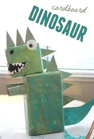 Toddler Approved CARDBOARD DINOSAUR ART To Go Along With Goldilocks And The Three Bears By