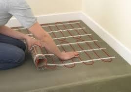 chauffage électrique au sol sous les tuiles la technologie de