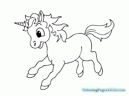 Cute Unicorn Colouring Pages 2170532