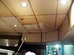 cleaning stained commercial kitchen ceiling