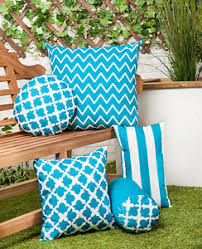 Image Is Loading Teal Arabesque Collection Outdoor Cushions Waterproof Garden Pillows