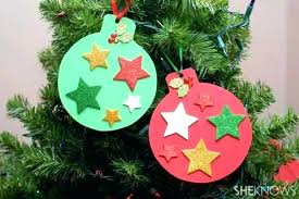 Easy Ornament Crafts For Kids Invitation Template Tree Craft Kid Friendly Button Star Cheap