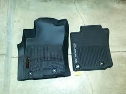 Laser Measured All Weather Floor Mats by Lexus All Weather Floor Mats Vs Weathertech Clublexus Lexus