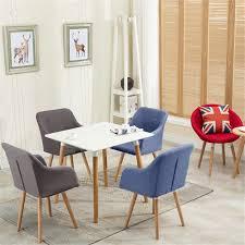 details zu 2er wohnzimmerstuhl modernes stühle esszimmer bürostüle modern stoff stuhl set