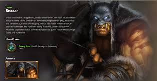 Hearthstone Hunter Beast Deck 2015 by Hearthstone Hunter Rexxar Mmorpg Feature Mmosite Com